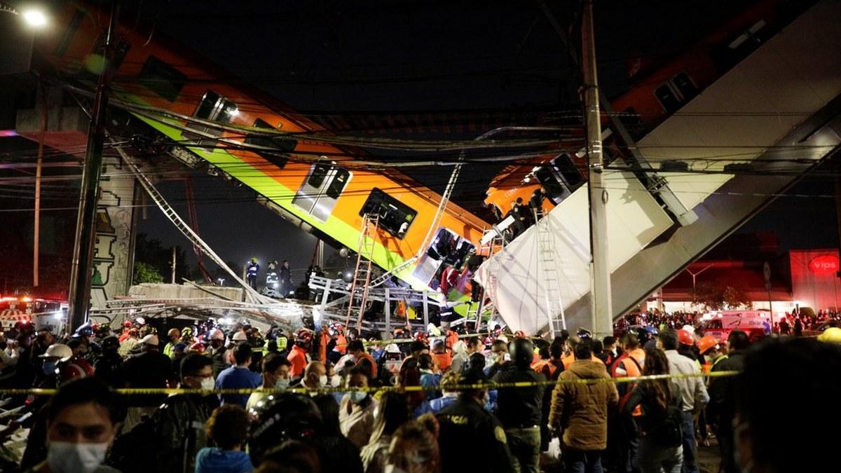 Las impactantes imágenes del accidente de la Línea 12 del Metro 2