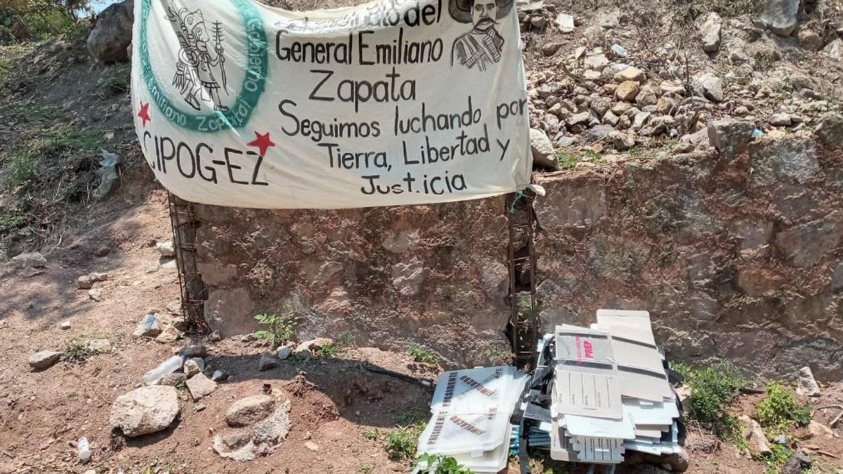 Comunitarios decomisan material electoral en la Montaña Baja de Guerrero 1