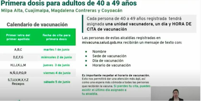 Iniciará vacunación para adultos de 40 a 49 años en estas alcaldías de CDMX 1