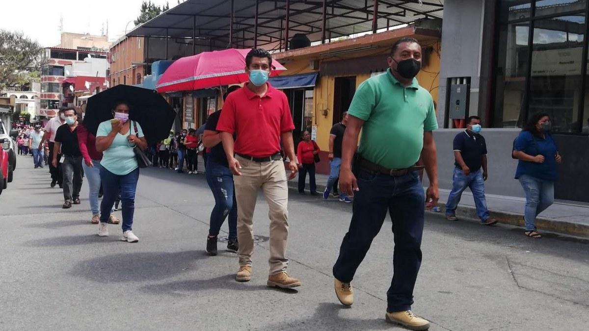 Chilpancingo: sindicalizados del Ayuntamiento exigen bono del Día del Padre 2