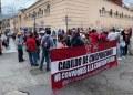 Félix Salgado se compromete a gestionar pagos de sindicalizados que protestan en Chilpancingo 2