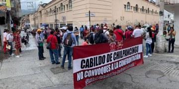 Félix Salgado se compromete a gestionar pagos de sindicalizados que protestan en Chilpancingo 1