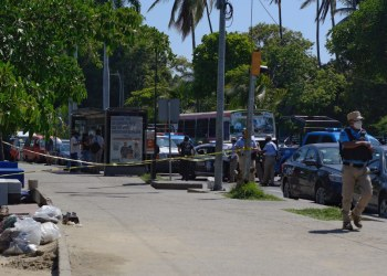 Asesinato en playa Las Hamacas. Foto: Karla Benítez