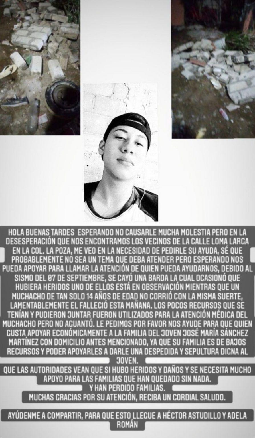 Terremoto en Acapulco: muere un niño de 14 años, una barda le cayó encima 2