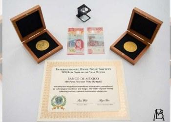 Billete de 100 pesos recibe reconocimiento como el mejor del mundo 6