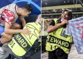 Cristiano Ronaldo le da balonazo a guardia; le regala su playera 2