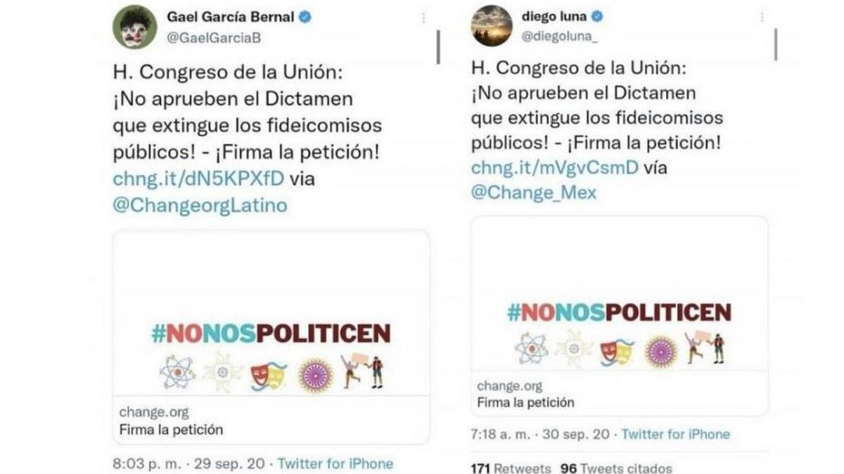"""Diego Luna y Gael García recibieron """"donaciones"""" de 160 mdp de EPN y Calderón 2"""