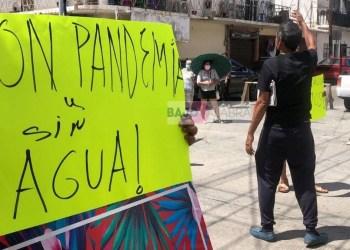Bloquean la Progreso por falta de agua; amagan con suspender pagos a Capama 6