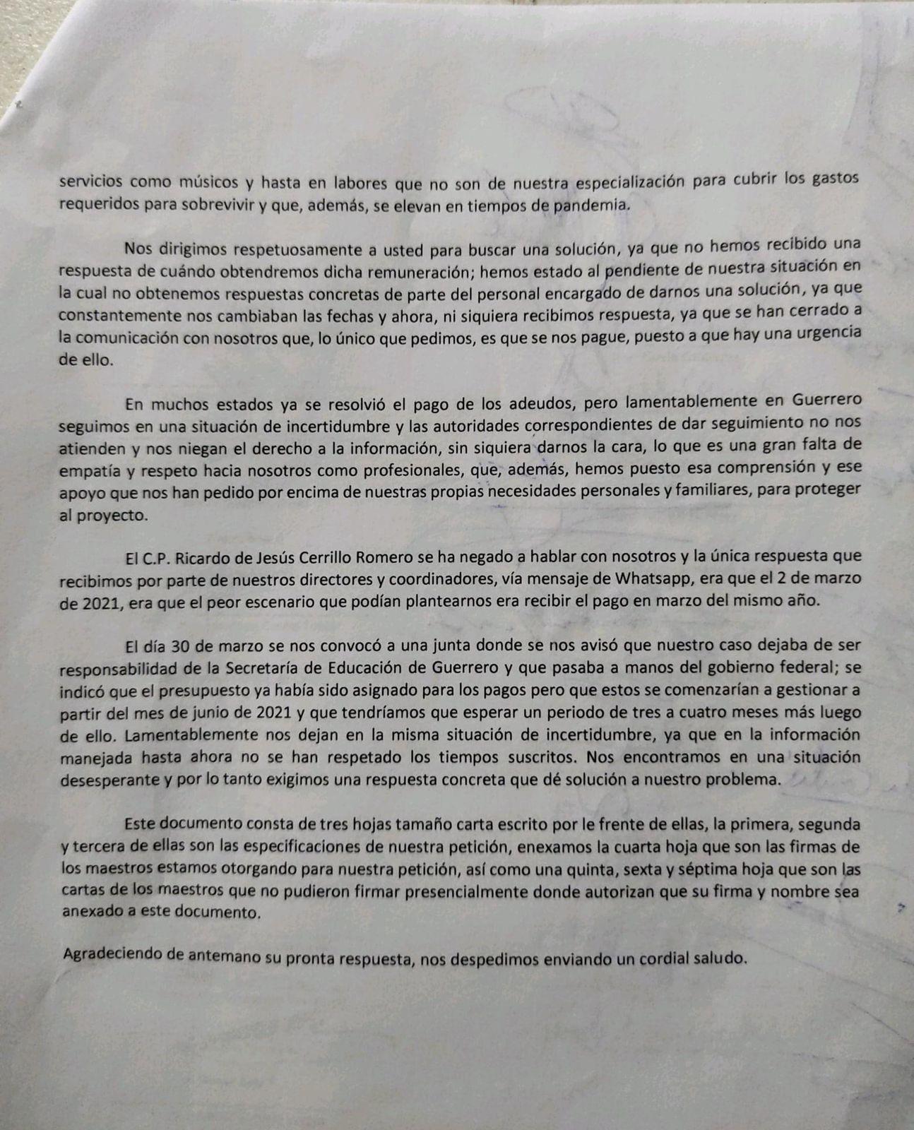 Gobierno de Guerrero también adeuda salarios a ex maestros de la ONEM 3