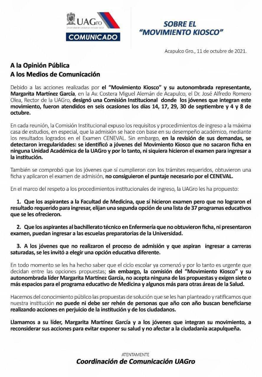 """Acapulco: """"rechazados"""" de la UAGro no realizaron ningún trámite para ingresar 1"""