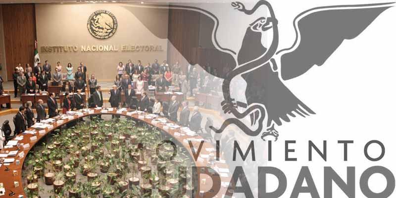 Sanciona INE a Movimiento Ciudadano por mal uso de lista nominal