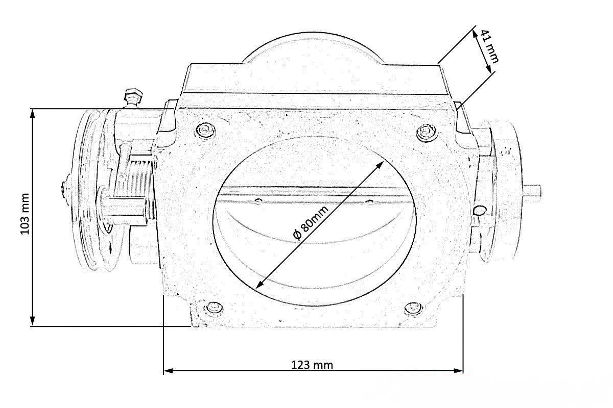 Bajpol Motosport Gt Przepustnica Turboworks Uniwersalna 80mm