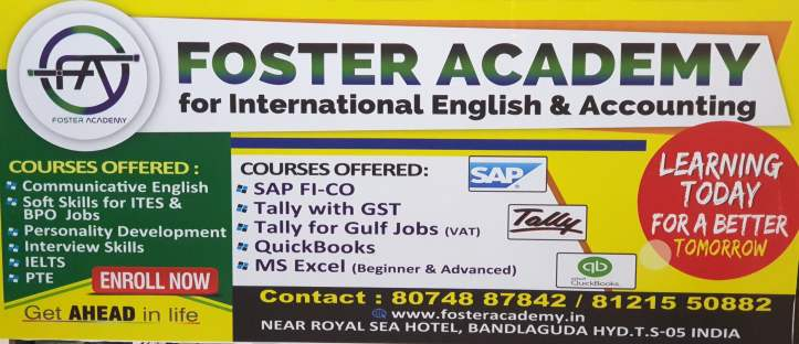 Foster academy spoken english and accounting in bandlaguda