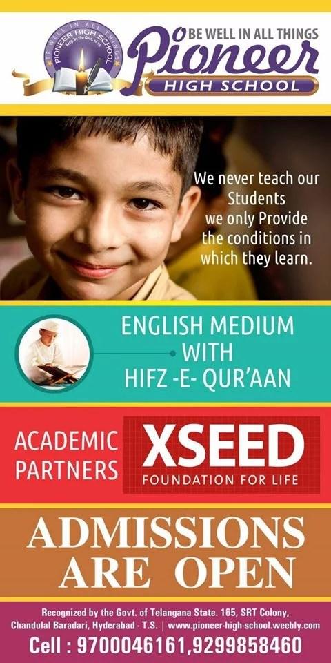 Pioneer High School Chandulal Baradari Hyderabad Schools Bajrai Online Solutions