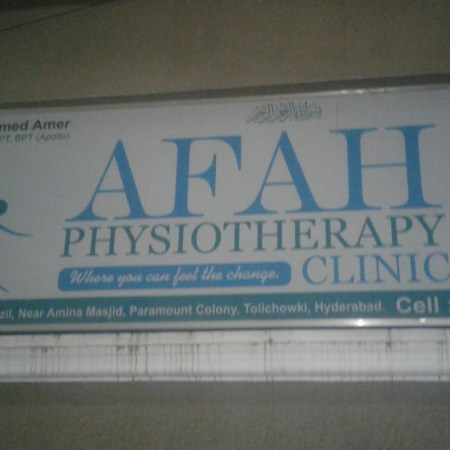 Afah Physiotherapy Clinic Tolichowki Hyderabad
