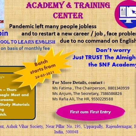 SNF Online English Academy