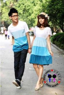 Dress Rainbow Biru