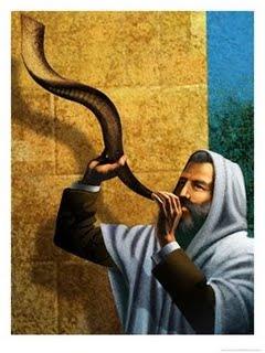 040C0605LL~Man-Blowing-Shofar-for-Rosh-Hashanah-Posteres