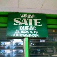 Today's Lunch: Sate Kambing Kutowinangun