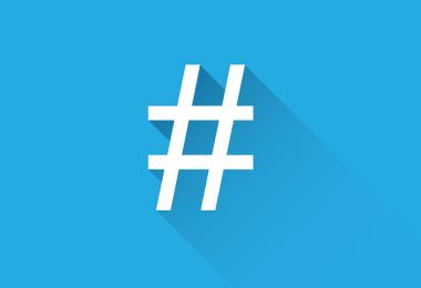 uso de hashtags