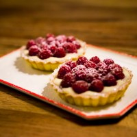 raspberry tartelettes with almond cream