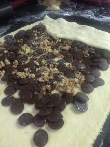 Rosca de Páscoa em Pedaços, Nozes com Chocolate - Receita