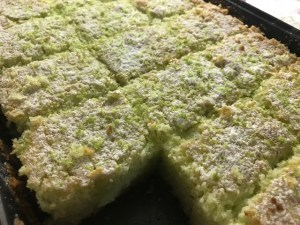Bolo verde de limão fit