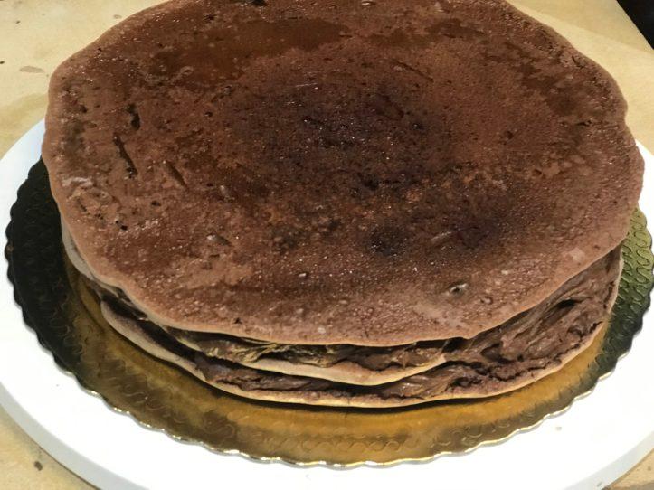Montagem da Receita de melhor bolo de chocolate do mundo
