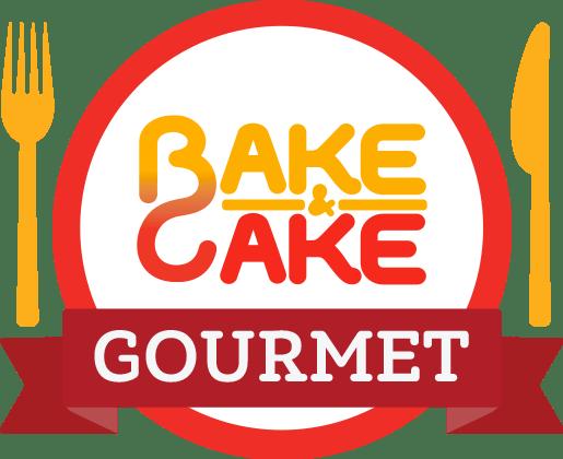 logo alimentaçâo saudável bake and cake gourmet