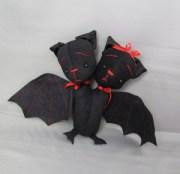 Harold and Maude two-headed bat plush doll Devout Dolls Halloween