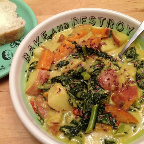 Tony's Snow Day Kale & Potato Stew