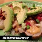 bbq jackfruit baked potato