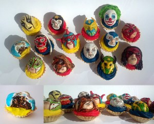 Wrestlers in Disguise Cupcakes