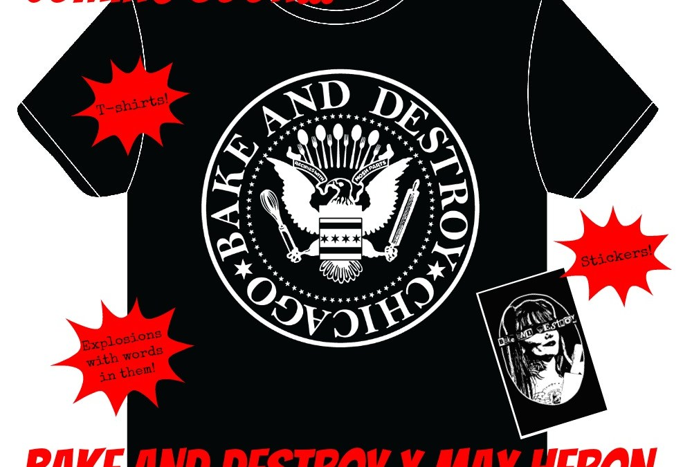 New Bake and Destroy Merch, German Translation & Giveaway