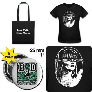 new bake and destroy merch