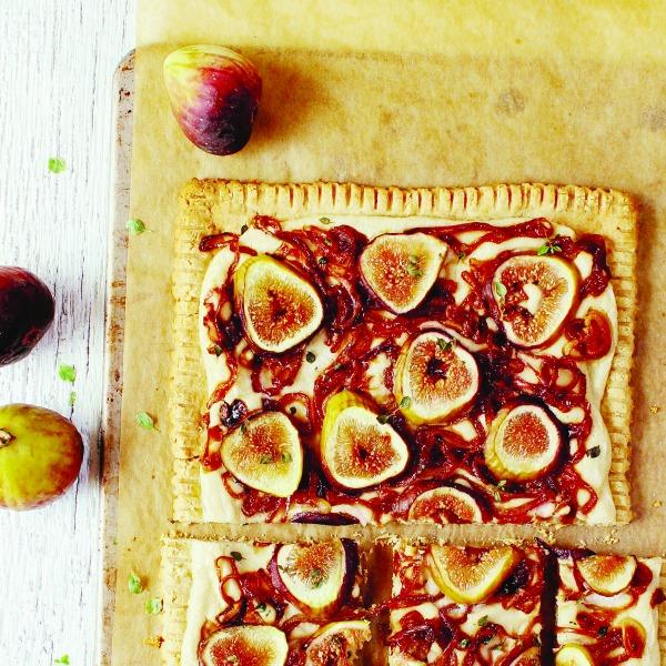 YumUniverse: Fig & Caramelized Onion Tart