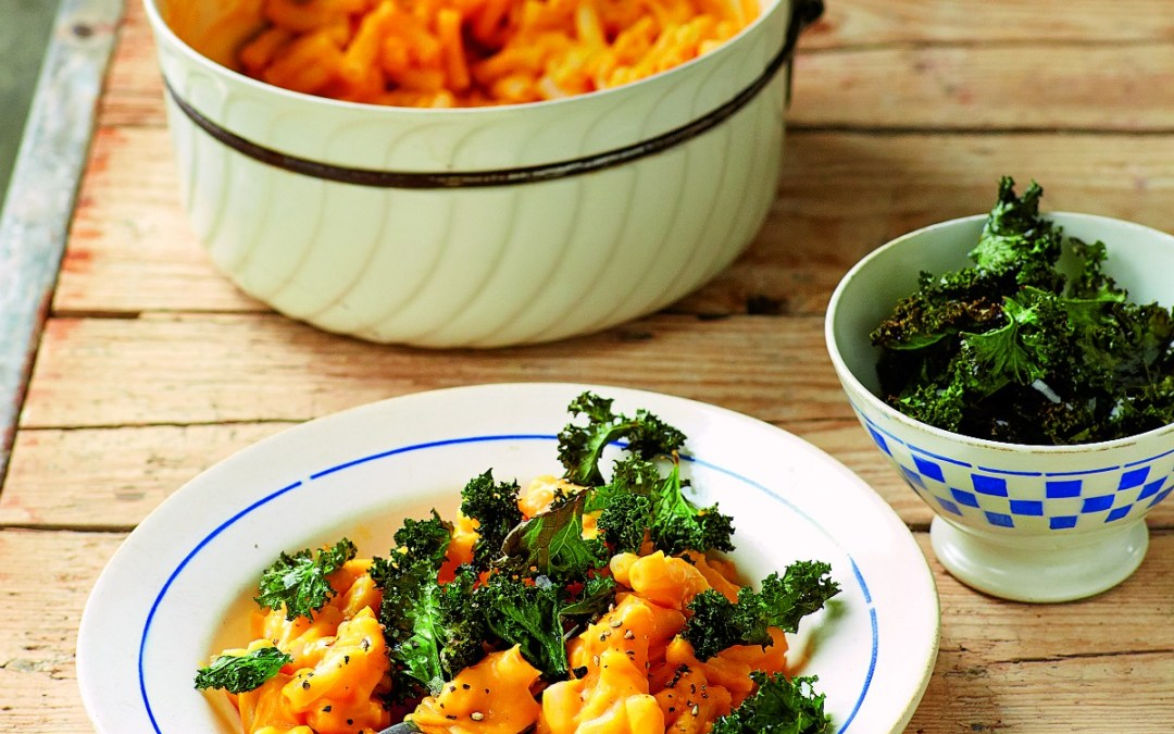 Macaro-o Cheese with Crispy Kale