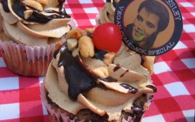 Vegan Elvis Comeback Special Cupcake