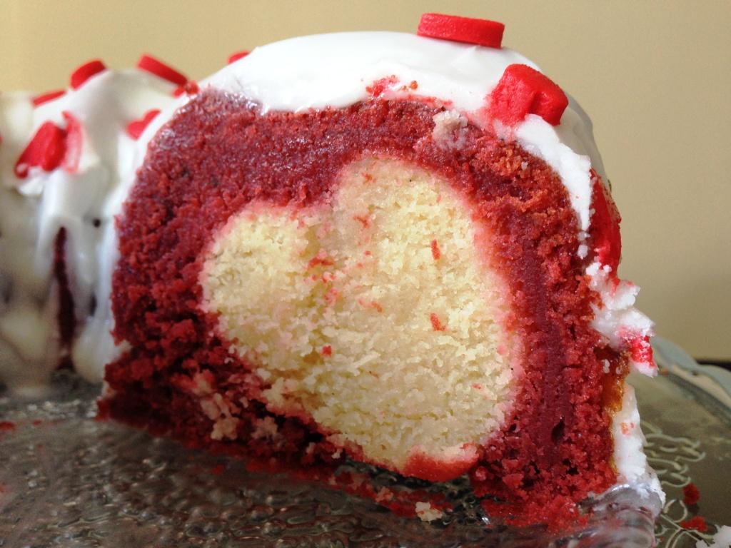 Valentine S Day Hidden Heart Design Red Velvet Bundt Cake