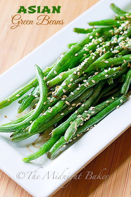 Asian Green Beans   bakeatmidnite.com   #vegan #sidedishes #greenbeans #asian
