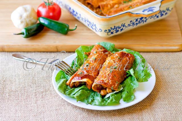 Chicken & Garbanzo Enchiladas