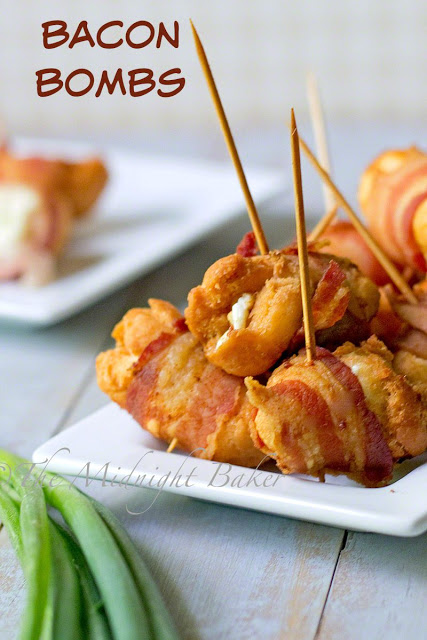 Bacon Bombs   bakeatmidnite.com   #bacon #cheese #appetizers