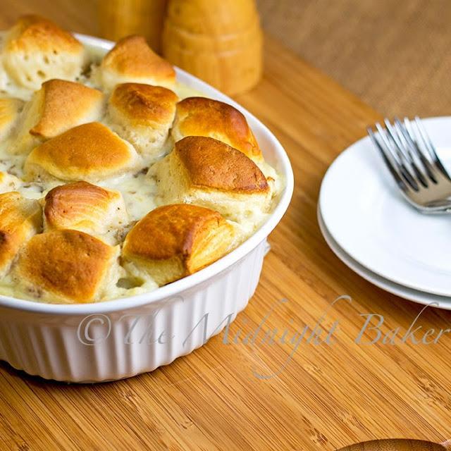 Biscuits & Sausage Gravy Pot Pie