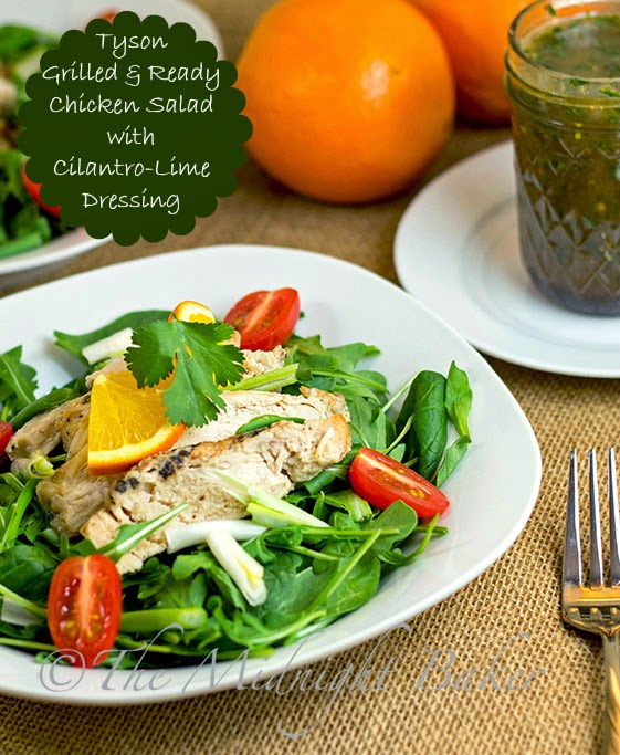 Tyson Grilled & Ready Chicken Salad with Orange-Cilantro Dressing #ad #JustAddTyson #cbias