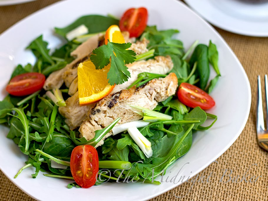 Tyson Grilled & Ready Chicken Salad with Orange-Cilantro Dressing #JustAddTyson #cbias #ad