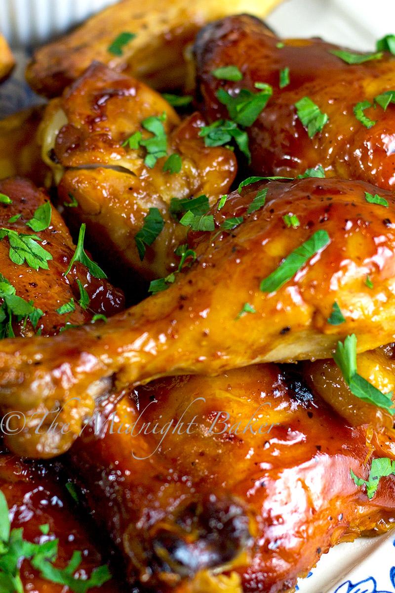 slow cooker fruity bbq chicken