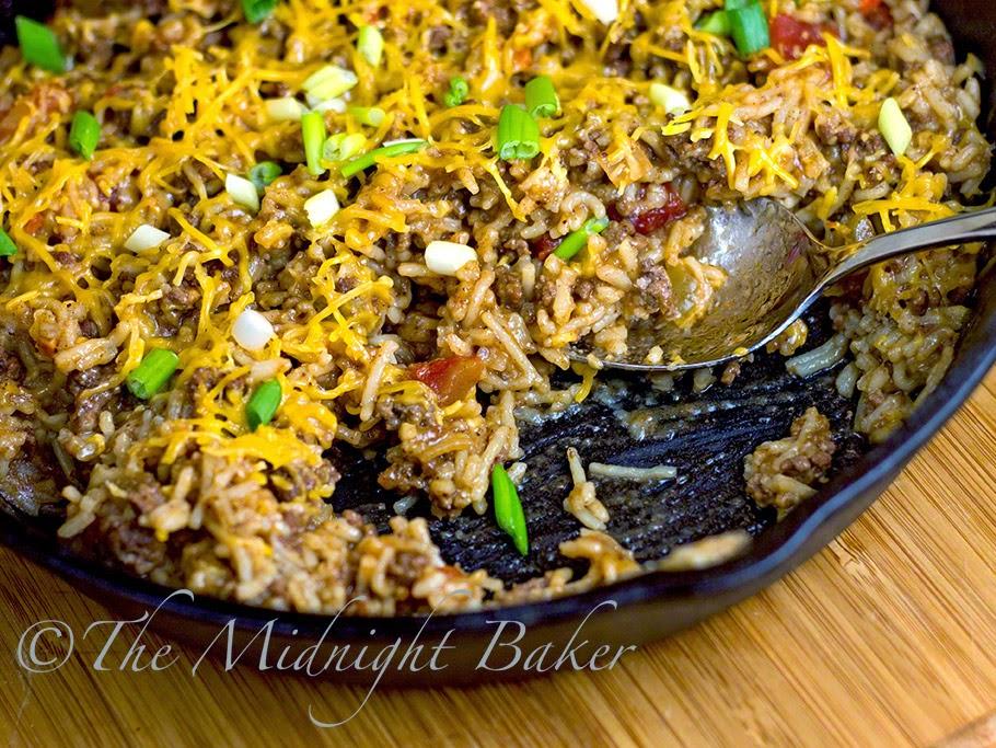 Fajita Rice Skillet Dinner #30MinuteMeals, #FajitaSeasoning #GroundBeef #Rice