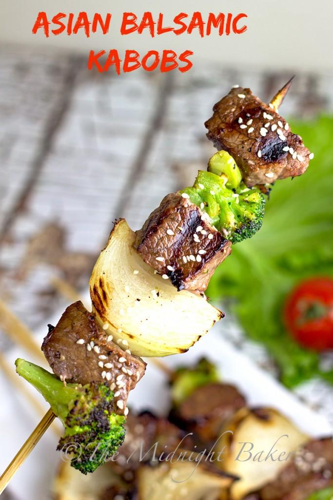 Asian Balsamic Kabobs #shishkabob #BeefKabobs #BBQ #SteakMarinades