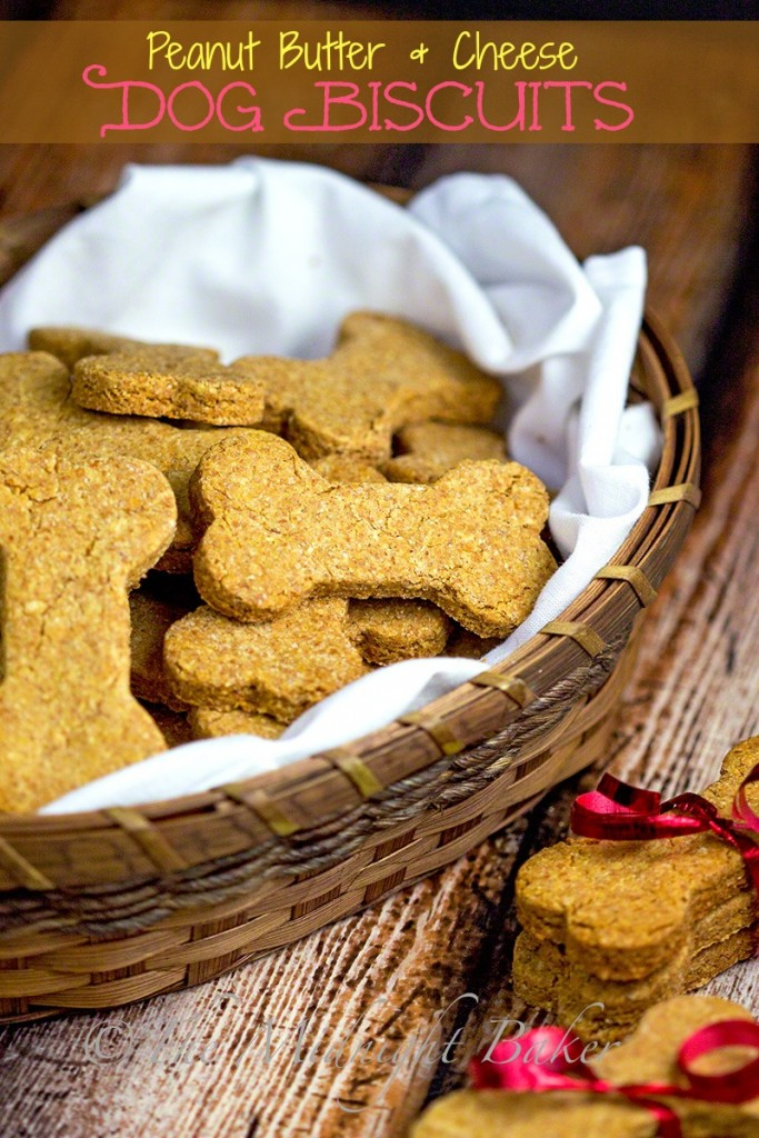 Peanut Butter & Cheese Dog Biscuits   bakeatmidnite.com   #dogbiscuits #dogtreats #dogs
