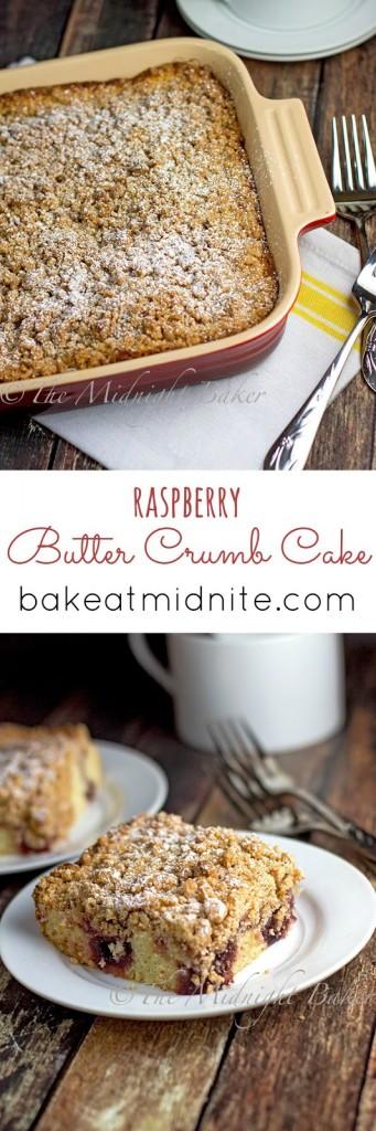 Raspberry Butter Crumb Cake | bakeatmidnite.com | #coffeecake #snacks #crumbcake